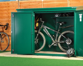 Metal Police Approved Cycle Shed