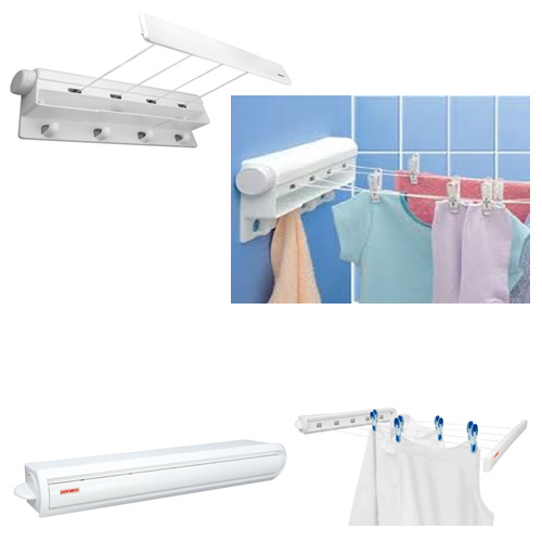 4-Line Indoor Over Bath Retractable Clothes Dryer